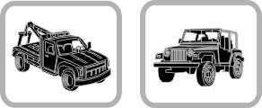Do samochodów użytkowych i dużych samochodów terenowych